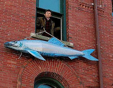 Sardine Sculpture
