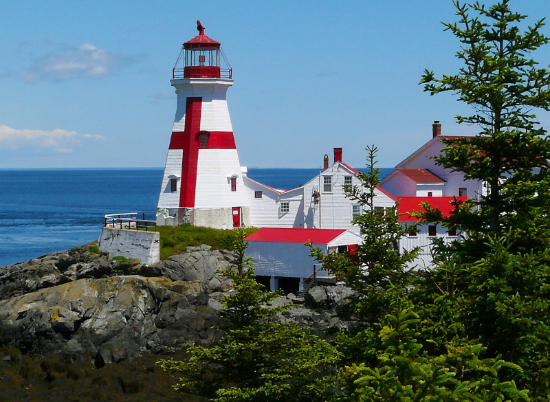 A Clear June Day at Head Harbour Light Station