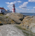 A View of Head Harbour Light Station from the Rocks