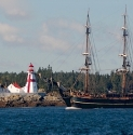 A Ol ld Ship Passes By Head Harbour Light Station