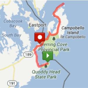 Bay Of Fundy International Marathon Route Map